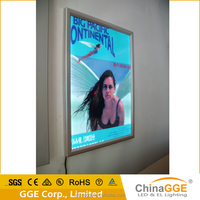 light box with aluminium and acrylic material for trains
