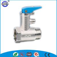 spring load pressure relief water heater brass safety valve