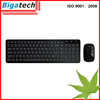 Latest Mini Colored wireless bamboo keyboard and mouse