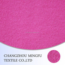 Pink rose bright color over coating wool fabric, wool and acrylic blend fabric, for winter women coat