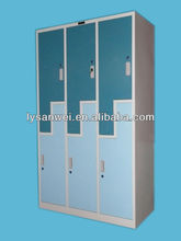 6 door office furniture metal z shape locker
