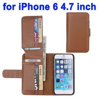 Litchi Texture Foldable Wallet with Card Slots Leather Phone Case for iPhone 6 Case 4.7 inch