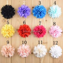 "Fashion 3"" Chiffon Tulle Lace Layered Flower,Handmade Chiffon Fabric Flower Hair Decoration"