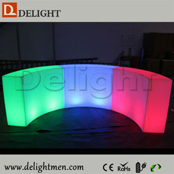 Cheap RGB color changing outdoor plastic rechargeable mobile home bar led furniture for home