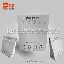 blue recyeled paper counter display units with holes