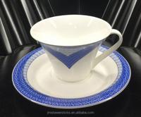 Porcelain different shape coffee mugs