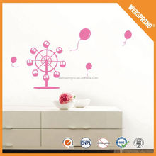 Innocuous and waterproof kids 3d wall stickers