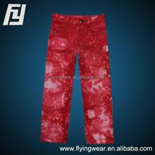 Custom Kids Girls Colorful Lastest Design Cotton Jeans Pants Outwear