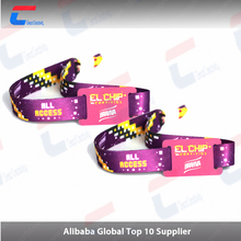 Adjustable RFID Fabric Wristband / Woven Wristband For Events