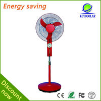 high quality DC solar stand fan without battery for indoor and outdoor
