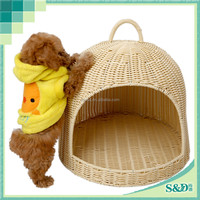 Classic Handicraft Good Quality Pet House Wholesale Rattan Indoor Dog House