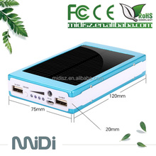 New launched portable solar panel charger with solar cell,Solar Power Bank with 12000mah battery,solar charger for mobile phone