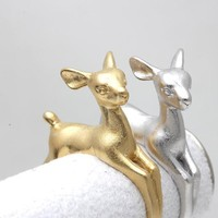 Adjustable Bambee ring Animal Deer Ring in Gold Jewelry Wrap Retro Ring Fashion Summer Ring For men gift 2015