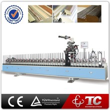 MDF wrapping machine with cold glue