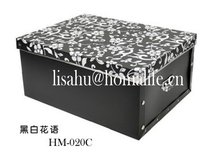 Cheap fold down storage boxes with lid for toys