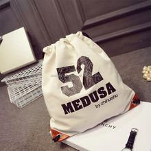 OEM canvas drawstring bag / 100% cotton made packaging bag