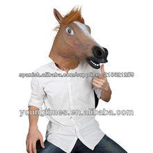 Popular espeluznante caballo marrón máscara, nueva máscara de partido, halloween venta superior cabeza de caballo máscara