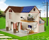 25 Years Life 4KW Solar Grid Tie Power System According Custom Needs For Home System,5 Years Warranty