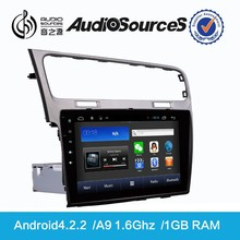 VW Golf Double din Wholesale Car video with Canbus WIFI SWC IPAS OPS 1.6G CPU 1G RAM Gps navigation