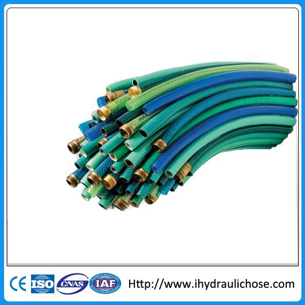 High pressure reinforced pvc soft fiber water garden hose