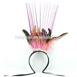 china wholesale market Plush crochet headband with button closure New Year