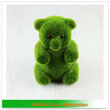 Artificial green animals for decoration Bear with eyes