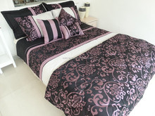 traditional style printing ribbon duvet cover