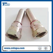 Metric/JIC/BSP hydraulic hose fittings with ferrules