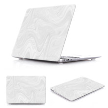 White Marble Pattern UV 3D Print Hard Shell Case Cover For case MacBook pro