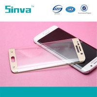 Full Cover 3D Curved For Samsung galaxy s6 edge tempered glass screen protector mobile phone