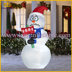 new arrival low price christman snowman decorations ,inflatable shivering snowman