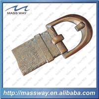 custom 3D red copper belt buckle shape antique copper bottle opener