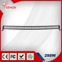 50 Inch 288W Off Road Curve Led Light bar 4x4 Curved Bar Auto Led Light Arch Bent