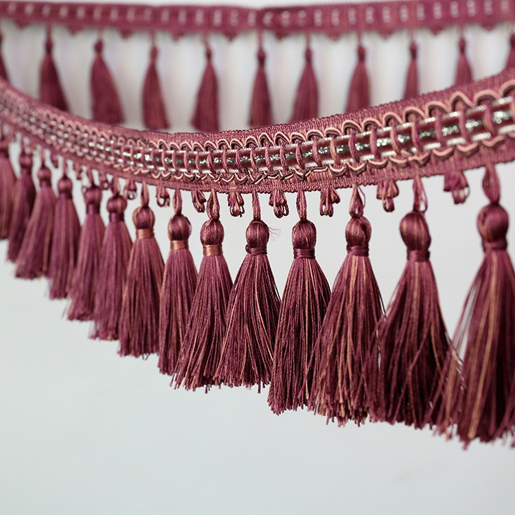 Borla decorativa / franja guarnição borla / couro borla para o lenço