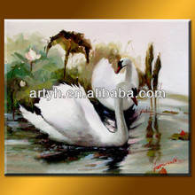 Handmade Swan Oil Art Of Image Design For Home Decor