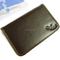 Flip Style Genuine/PU Leather Business Card Holder/Case/ card cover For Gift