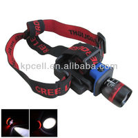 Zoomable Clip-on Cap Hat LED Headlamp mining light and charger