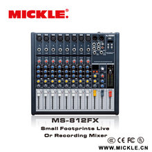 MICKLE MS812FX small professional mixer console with high quality