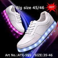 Big Size Unisex Sneakers Adult led light shoes for men