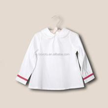 Spring 2014 Korean new children's wear baby girls shirt long sleeve shirts wholesale plain white kids shirt girls doll collar