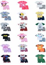 2015 newest children pajamas cartoon short pyjamas summer sleepwear