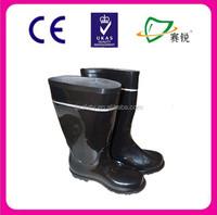 Natural rubber material waterproof field men rain boots