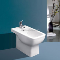 ceramic bathroom bidet with single faucet hole