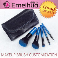 5pcs blue makeup brush kit branded set world best selling face makeup brushes