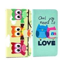 Flip Wallet Leather Book Case For Alcatel One Touch Pop D5