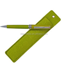 Promotional stylus ballpoint pen with felt pouch