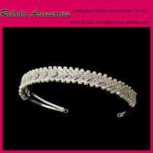 Fahion woman jewelry headwear Gorgeous White Pearl Beauty bridal tiara wedding hair crown