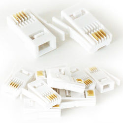 10x BT Telephone 431A Crimp Connectors - Plugs/Ends/Jacks For Phone Cable/Wire