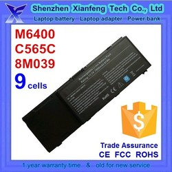 laptop battery for Dell precision m6400, C565C DW842 8M039 J012F