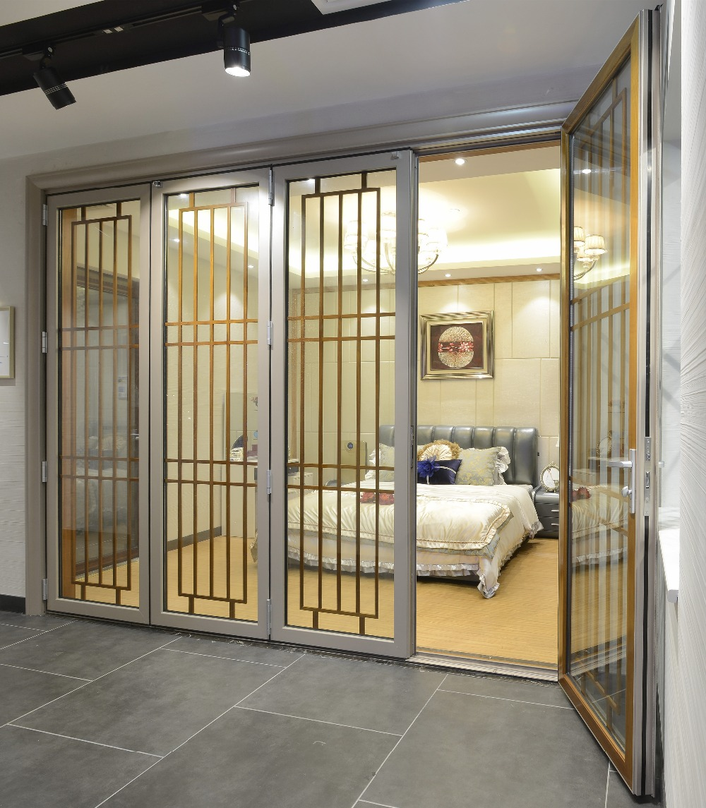 Good price large size aluminum glass room divider sliding for Large sliding doors room dividers
